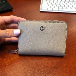 Tory Burch zip around coin wallet
